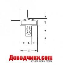 Дверной уплотнитель 10522 (11мм)