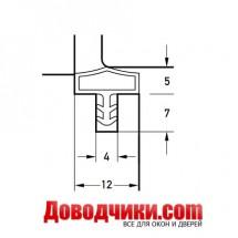 Дверной уплотнитель 10522 (12мм)