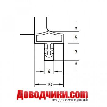 Дверной уплотнитель 10522 (10мм)