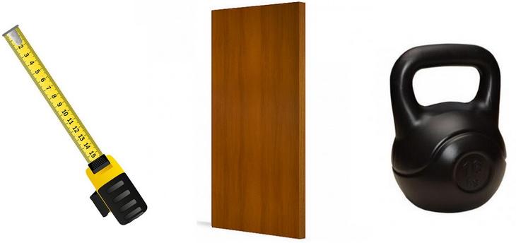 Вес и ширина дверного полотна